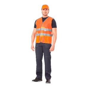 Жилет сигнальный ЛУЧ тип Б – яркий цвет материала и горизонтальные световозвращающие полосы позволяют обеспечить безопасность работы как в светлое, так и в темное время суток – удобная застежка на липучке – боковые накладные карманы Размеры: с 96–100 по 120–124 Рост: универсальный ГОСТ Р 12.4.219-99  Цена указана за весь размерный ряд