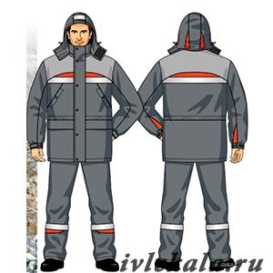Лекала костюм ИТР для защиты от пониженных температур (куртка, брюки)
