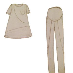Костюм для беременных рубашка+брюки