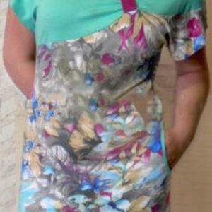 Лекала на платье трикотажное со сборкой