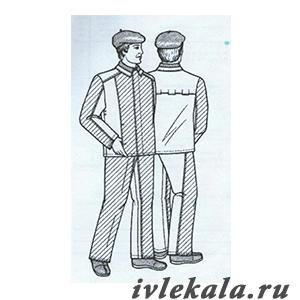 Лекала костюм мужской для защиты от повышенных температур тип Б ГОСТ 12.4.045-87